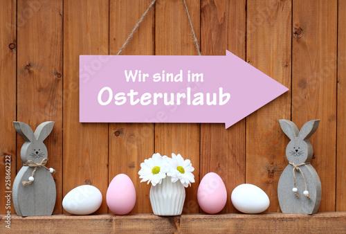 Leinwandbild Motiv Oster-Urlaub