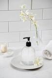 luxury bathroom interior - soap and towel