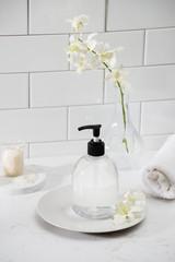 luxury bathroom interior - soap and towel © makistock
