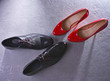 Composition with two pairs of shoes