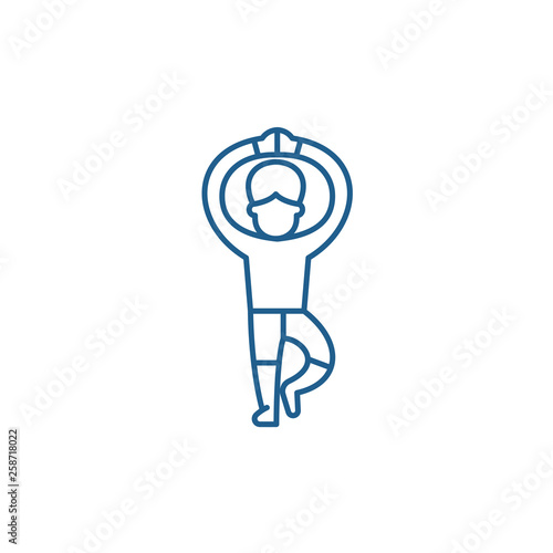 Ballet line concept icon. Ballet flat  vector website sign, outline symbol, illustration. © iconsgraph