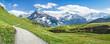 Leinwandbild Motiv Wanderurlaub in den Schweizer Alpen bei Grindelwald