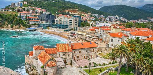 Leinwandbild Motiv Old town in Budva Montenegro