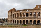 Extérieur du Colisée à Rome en Italie