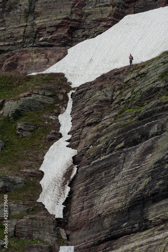 Hiker Looks Down at Impassable Trail © kellyvandellen