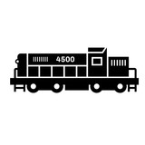 Train flat illustration on white