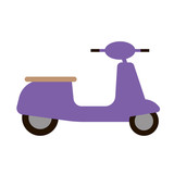 Scooter flat illustration on white