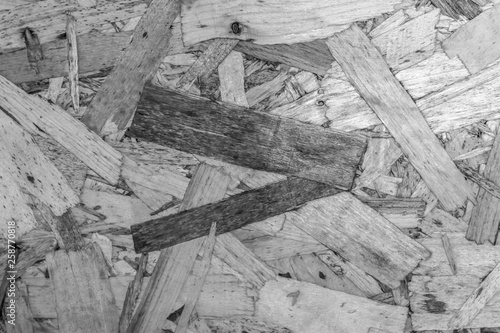 black and white osb building material texture background © chechotkin