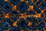 Barcelona street night aerial View - 258779062