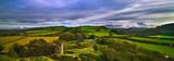 Rock of Dunamase County Laois, Ireland, panoramic view