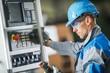 Leinwandbild Motiv CNC Machine Operator
