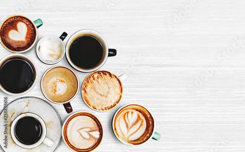 Leinwandbild Motiv Coffee cup collection