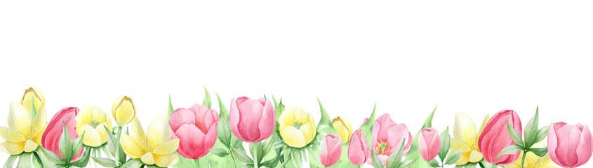Watercolor spring flowers © Elena