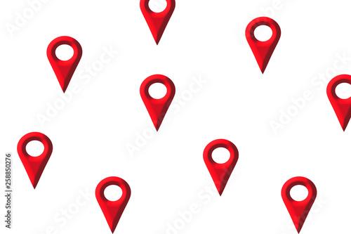 Map mark. Hazard map. 地図のマーク ハザードマップ