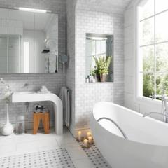 Old building bathroom after renovation (focused) - 3d visualization