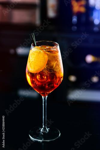 Leinwandbild Motiv Classic Italian Aperol Spritz cocktail