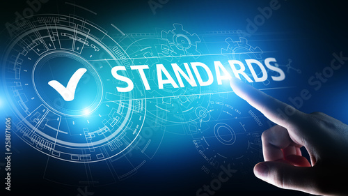 Standard. Quality control. ISO certification, assurance and guarantee. Internet business technology concept. © WrightStudio