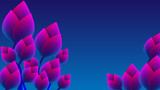 Abstract futuristic gradient flower background