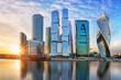 Leinwanddruck Bild - Modern skyscrapers business center Moscow - City in Russia