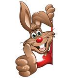 Easter bunny prawo kciuki do góry