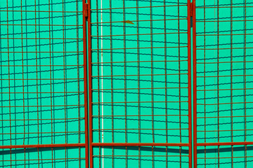 Urban abstract background, lines and shapes and complementary colors
