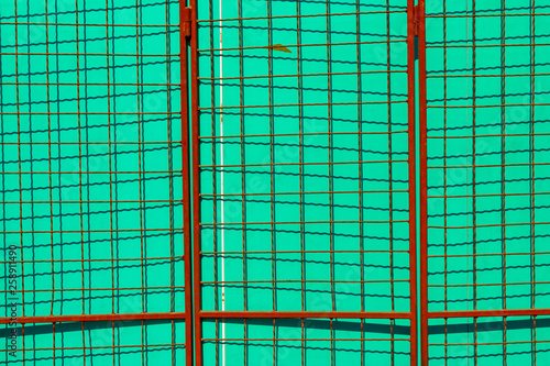 Urban abstract background, lines and shapes and complementary colors - 258911490