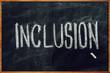 Word Inclusion on school blackboard - 258912607