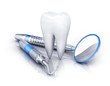 tooth and dental tools