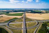 austostrada- węzeł drogowy ujęcie z drona