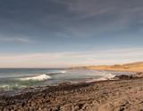 West coast of Ireland. Atlantic ocean, Wave running towards  Fanore beach, county Clare Ireland.