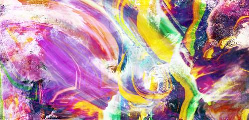 malerei streetart abstrakt rakel querformat
