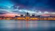 Budapest. Panoramic cityscape image of Budapest, Hungary during beautiful sunrise. - 258991050