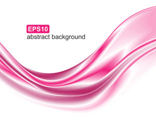 Abstract elegant pink wave motion. Dynamic background.