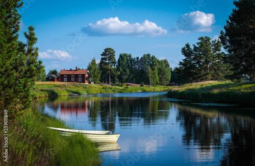 canvas print picture Dalarna Sweden Landscape