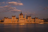 Parliament in Budapest during sunset