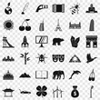 Different world icons set. Simple style of 36 different world vector icons for web for any design