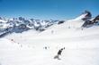 canvas print picture - Skifahren in Sölden