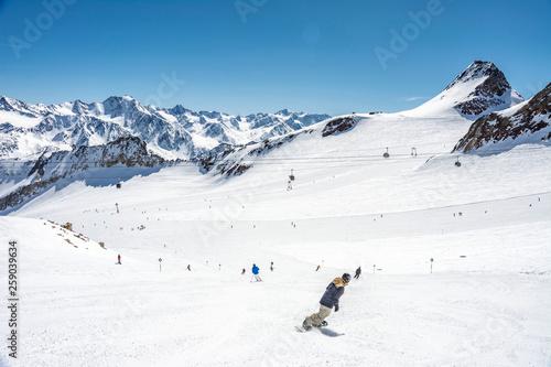 canvas print picture Skifahren in Sölden