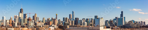 Panoramic view of the skyline of Chicago. - 259040693