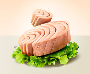 Canned tuna with lettuce