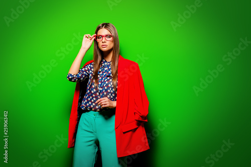 Leinwanddruck Bild colorful fashion clothes
