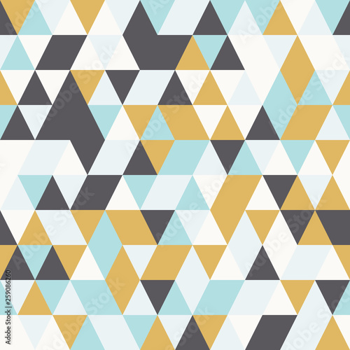 fototapeta na ścianę Bright seamless pattern with triangles. Modern abstract illustration.