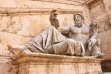 The ancient Roman statue of river god, as allegory of the River Nile on the Capitoline Hill (Campidoglio) in Rome.