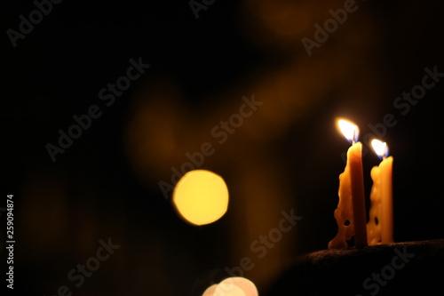 candle in the dark © alongkorn