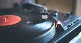 Playing retro music: Professional turnable audio vinyl record music player