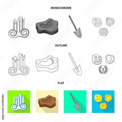 Isolated object of story and items icon. Collection of story and attributes  stock symbol for web.