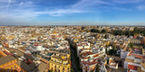 Fototapeta Fototapety do pokoju - Aerial view of Seville from the roof of the cathedral, Andalusia, Spain © Delphotostock