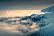 Clouds over the Tatra mountain peaks.