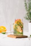 Fototapeta Fototapety do łazienki - Detox fruit infused flavored water. Clean eating © makistock