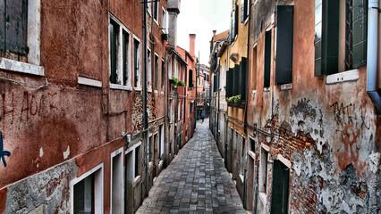 Ancient city street of Venezia